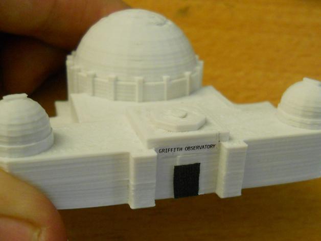 格里菲斯天文台 3D打印模型渲染图