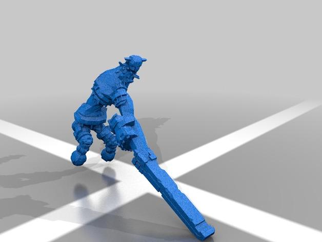 巨像雕塑 3D打印模型渲染图