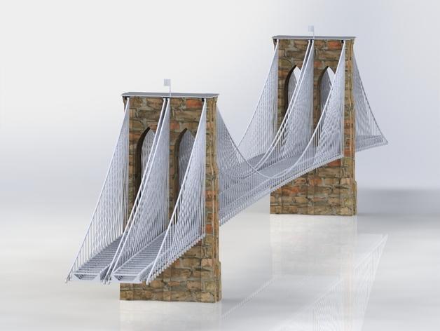 布鲁克林大桥 3D打印模型渲染图