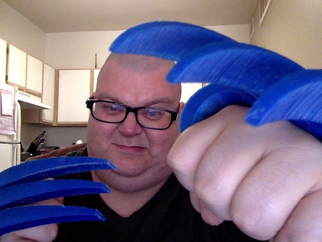 狼爪 3D打印模型渲染图