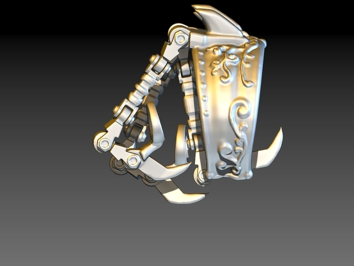 狼爪手链戒指一体手环