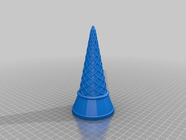 冰淇淋筒 3D打印模型渲染图