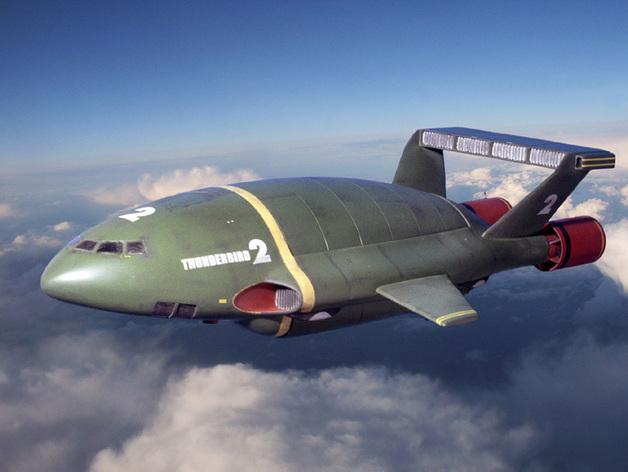 雷鸟战斗机  3D打印模型渲染图