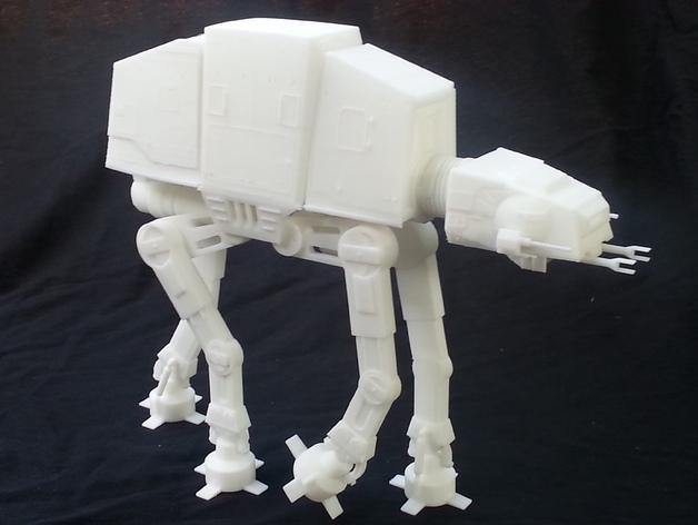 AT-AT帝国步行机 3D打印模型渲染图