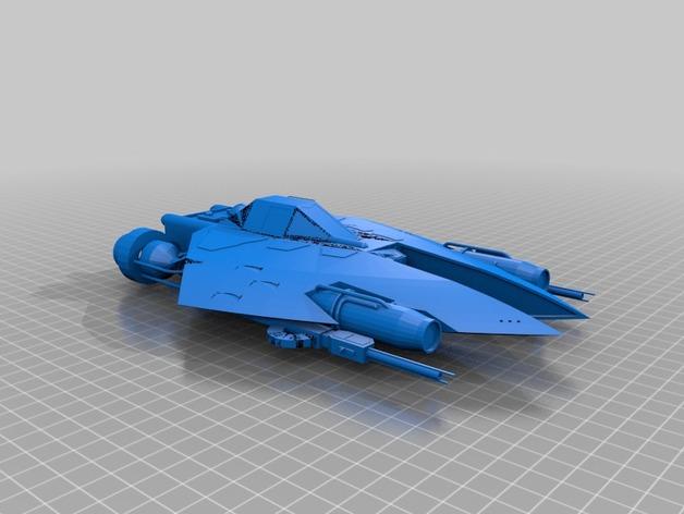 星球大战L-SR战斗机 3D打印模型渲染图