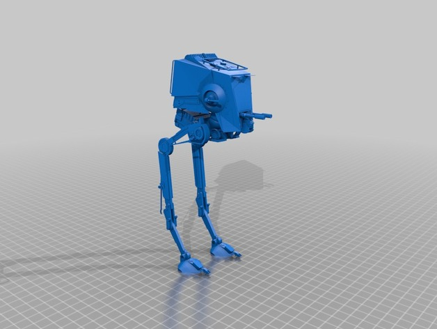 AT-ST侦查运输机 3D打印模型渲染图