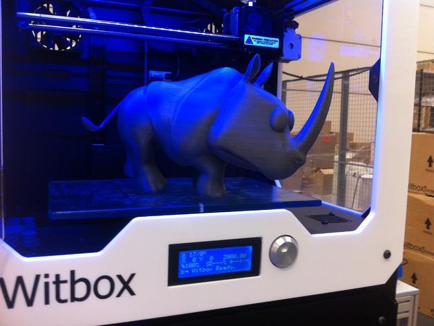 犀牛 3D打印模型渲染图