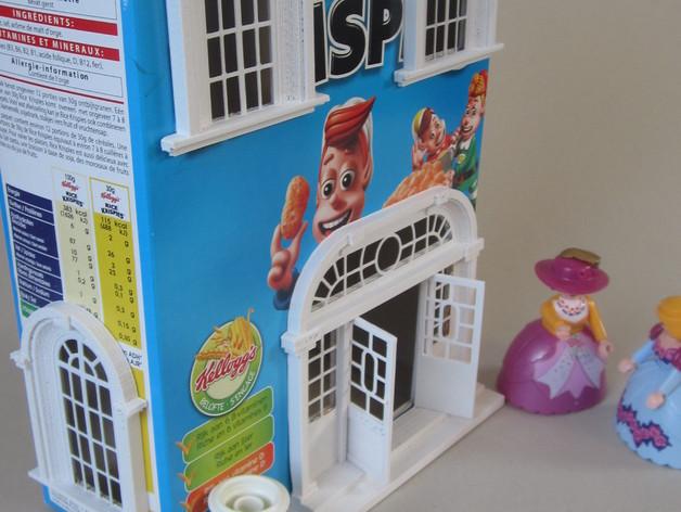巴洛克式房屋 食品盒 3D打印模型渲染图