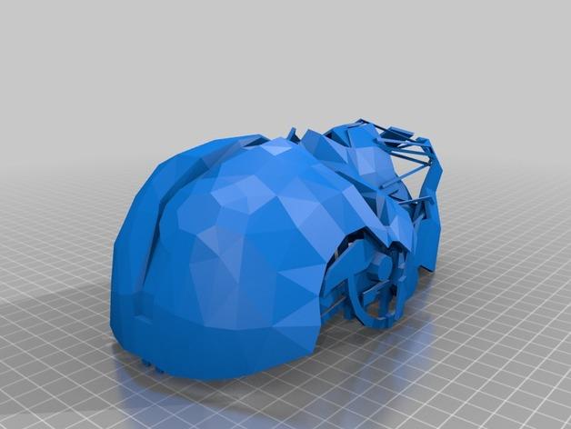 Corvo面具 3D打印模型渲染图