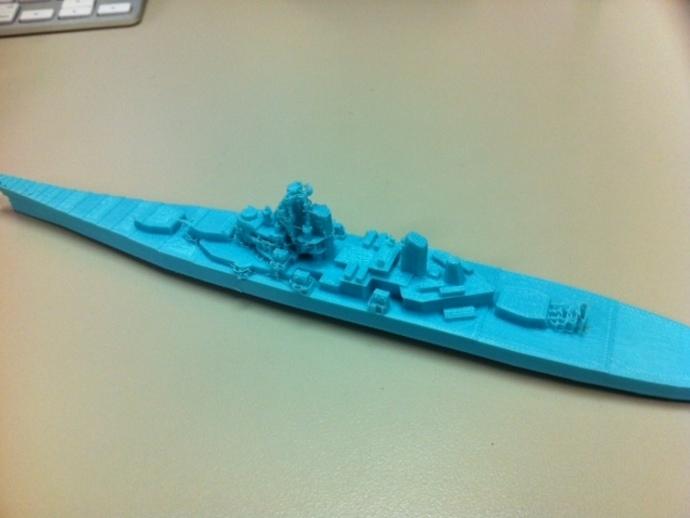 战舰模型 3D打印模型渲染图