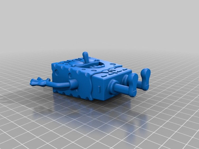 海绵宝宝 3D打印模型渲染图