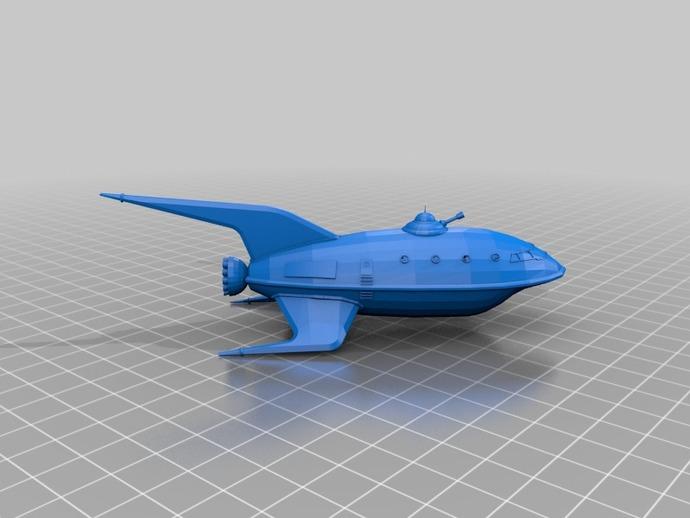 行星快递飞船 3D打印模型渲染图