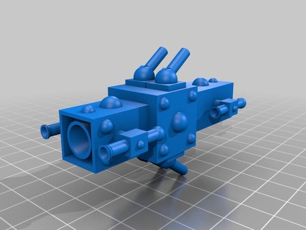 护卫舰船舱 3D打印模型渲染图