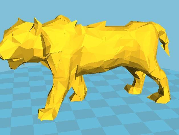 低面数老虎模型