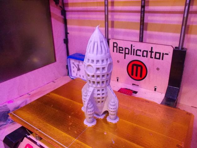 制动火箭 3D打印模型渲染图
