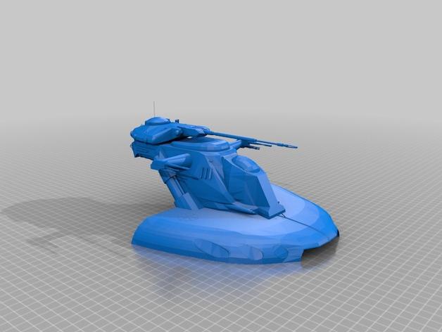 AA-T装甲突击坦克 3D打印模型渲染图