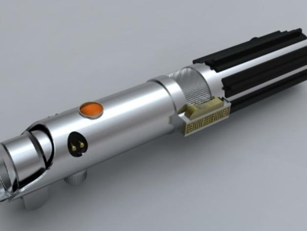Anakin Skywalker的光剑 3D打印模型渲染图