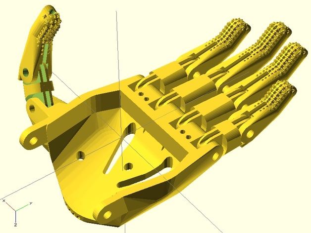 赛博人假肢 3D打印模型渲染图