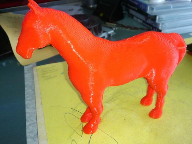 3D马模型 3D打印模型渲染图