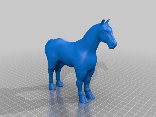 3D马模型