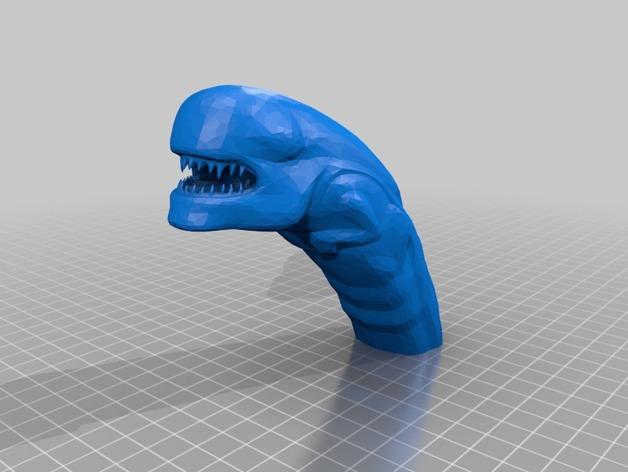 外星生物破胸者 3D打印模型渲染图