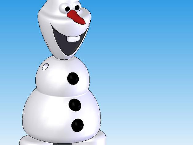 雪人 3D打印模型渲染图