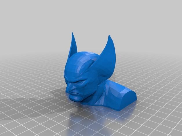 金刚狼半身像  3D打印模型渲染图