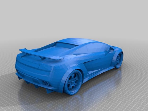 兰博基尼盖拉多跑车 3D打印模型渲染图
