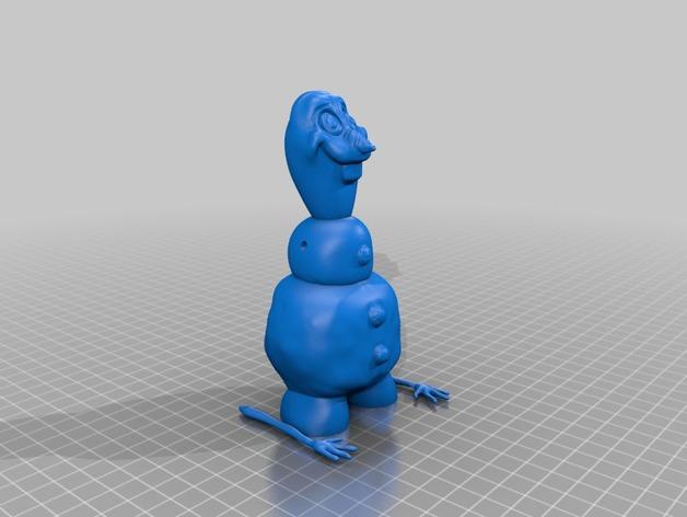 雪宝Olaf 3D打印模型渲染图