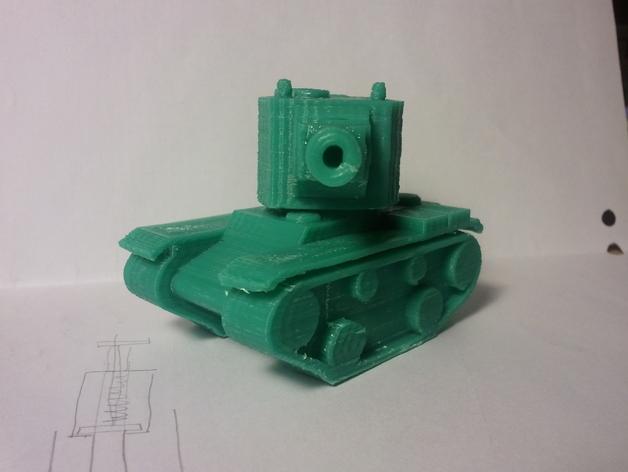 坦克模型 3D打印模型渲染图