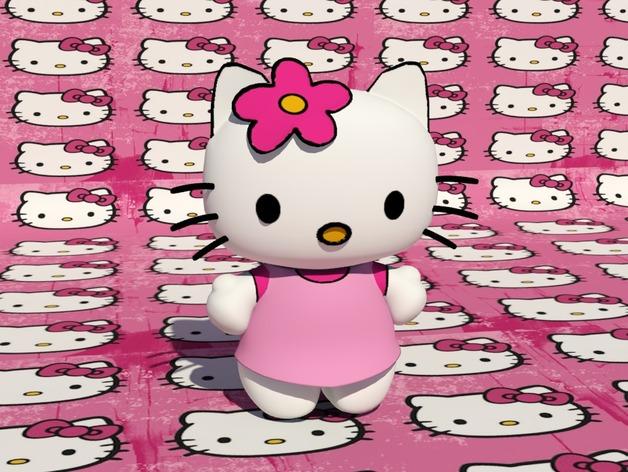 Hello Kitty猫 3D打印模型渲染图