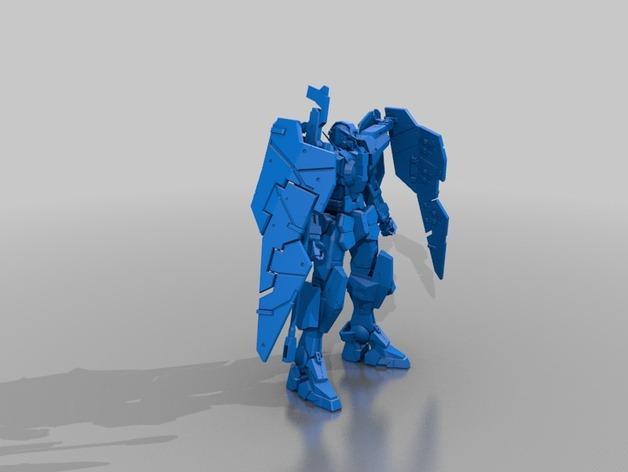 力天使高达 3D打印模型渲染图