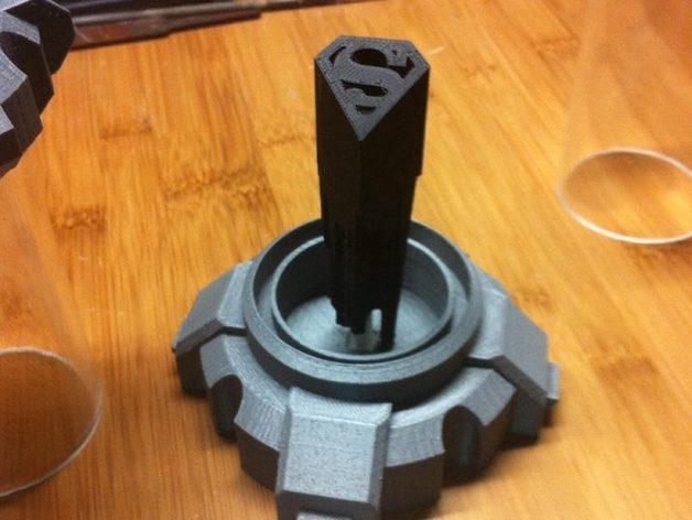 氪星人储能管 超人钥匙 3D打印模型渲染图