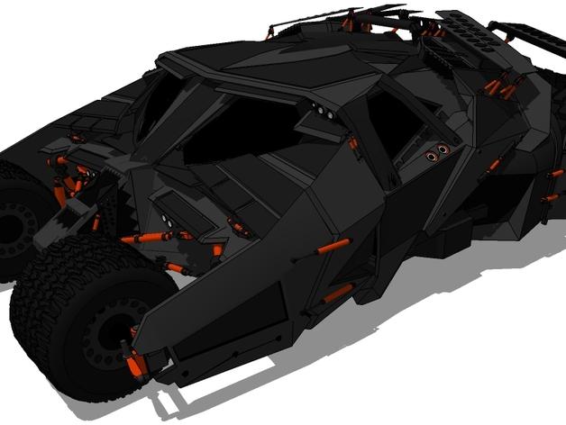 蝙蝠战车 3D打印模型渲染图