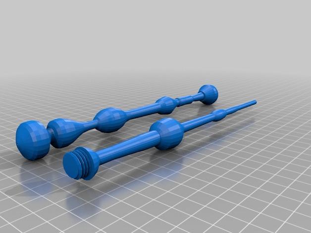 老魔杖 3D打印模型渲染图