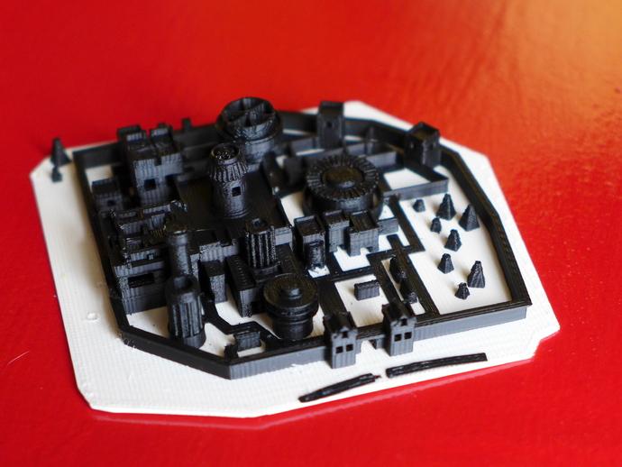 临冬城城堡模型 3D打印模型渲染图