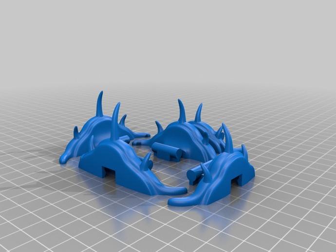 三叶虫 多棘刺虫模型