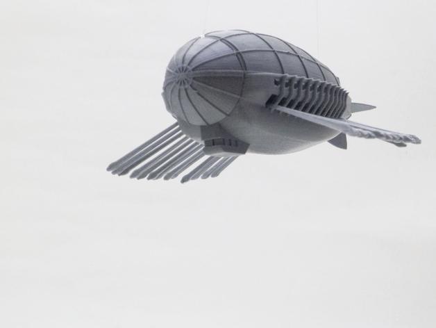 飞艇模型 3D打印模型渲染图