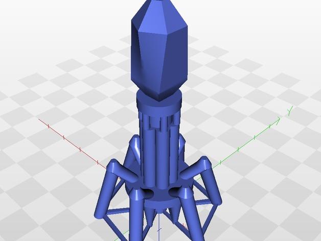 噬菌体病毒模型