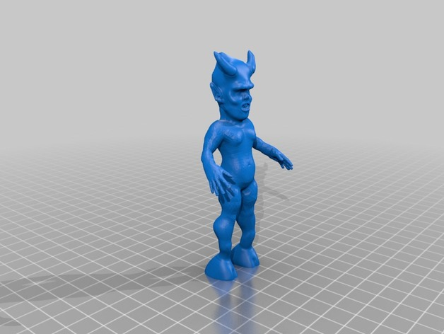 魔鬼宝宝 3D打印模型渲染图