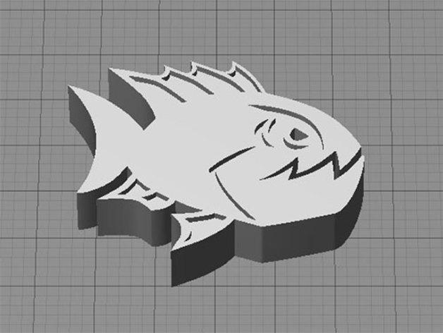 愤怒的鱼 3D打印模型渲染图