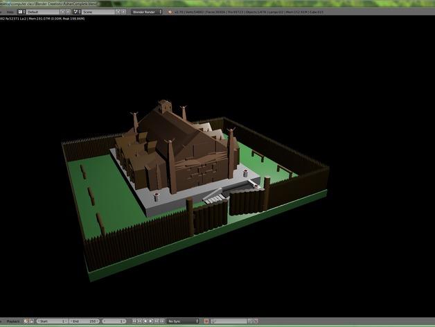 Rohan庄园 3D打印模型渲染图