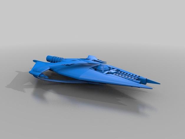 星际巡洋舰 3D打印模型渲染图