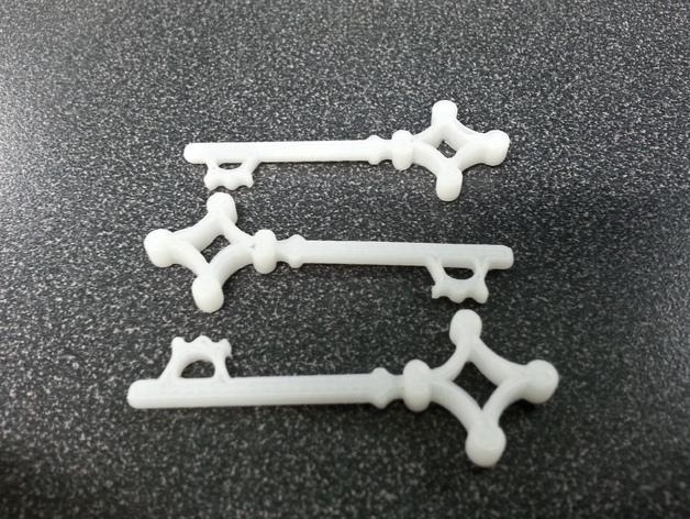 进击的巨人 地下室钥匙 3D打印模型渲染图