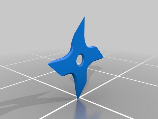 四角星飞镖 3D打印模型渲染图