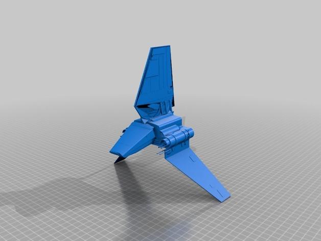 Lambda-class T-4a运输机 3D打印模型渲染图