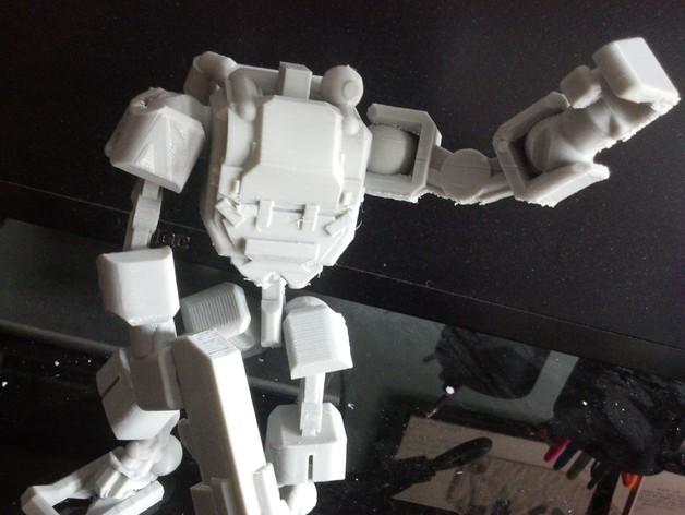 步行者机器人 3D打印模型渲染图