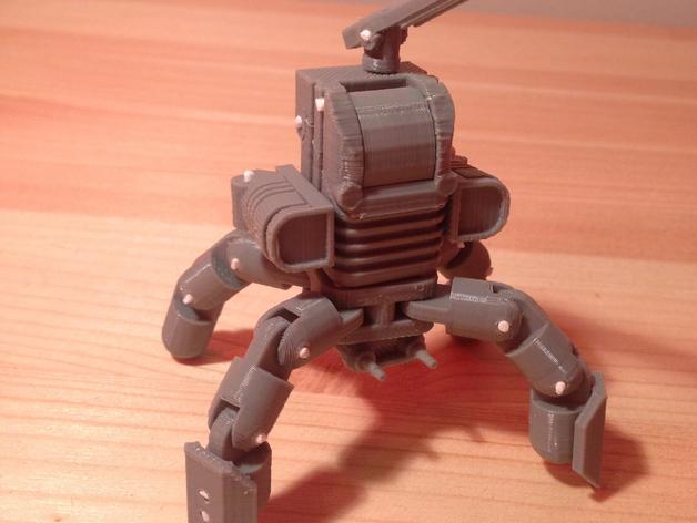 Mini Mech机器人 3D打印模型渲染图