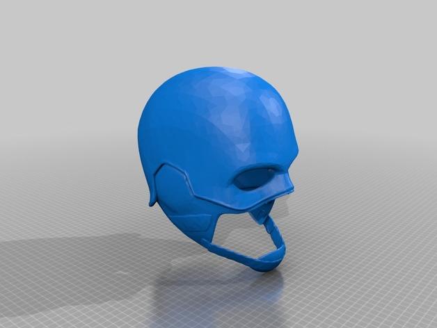 美国队长头盔 3D打印模型渲染图