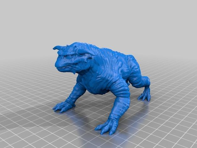魔鬼狗 3D打印模型渲染图